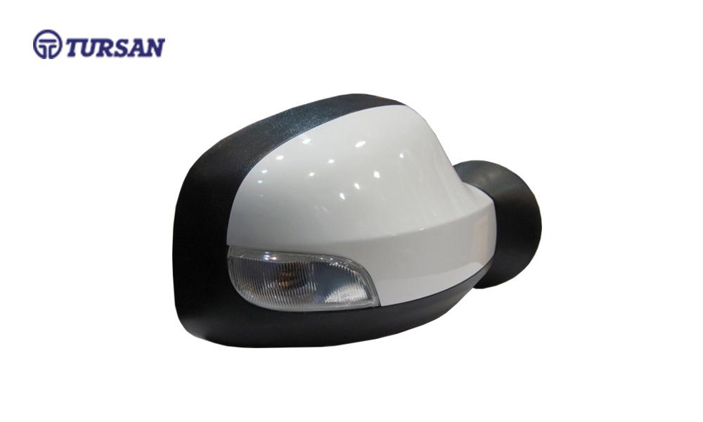 آینه بغل برقی با قاب رنگی سفید راهنمادار راست رنو ساندرو - TURSAN