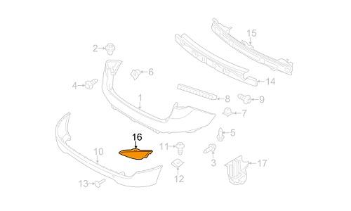 مه شکن عقب چپ هیوندای توسان GENUINE - IX35
