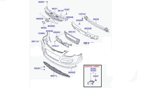 پروژکتور راست هیوندای MOBIS - I30