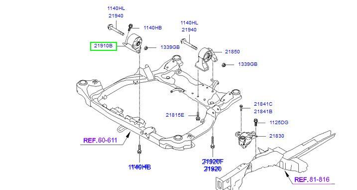 دسته موتور هیوندای النترا - MOBIS