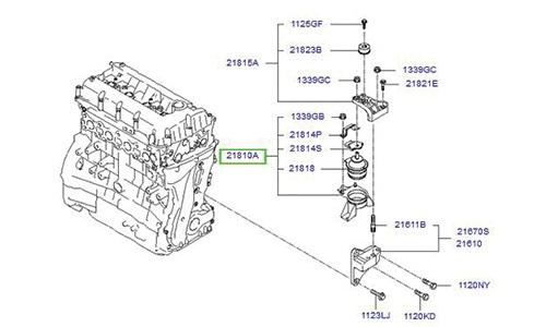 دسته موتور هیوندای سوناتا - آزرا