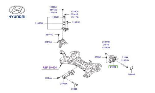 دسته موتور بالا چپ آزرا گرنجور - GENUINE