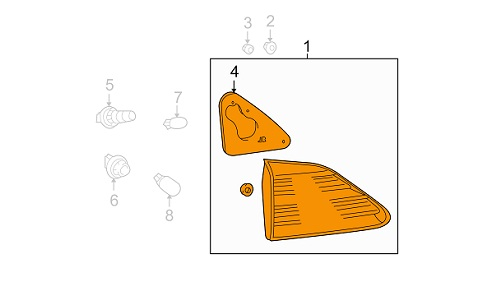 خطر راست صندوق لکسوس RX350