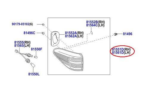 خطر چپ گلگیر لکسوس RX350