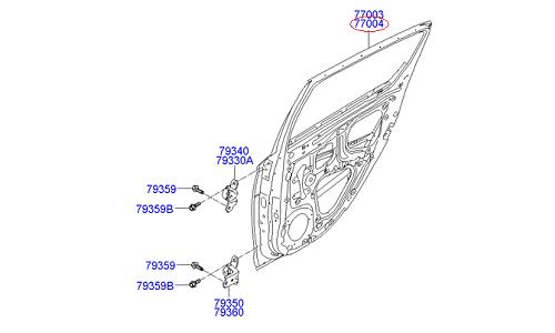 درب عقب راست هیوندای GENUINE – I20