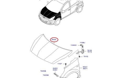 درب موتور هیوندای GENUINE – I20