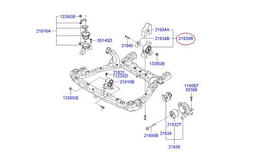 دسته موتور عقب هیوندای آزرا - GENUINE