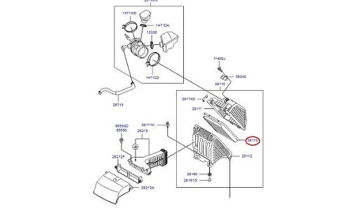 فیلتر هوا هیوندای سانتافه GENUINE - IX45