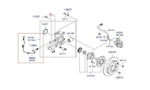 سنسور ABS عقب راست هیوندای و کیا - GENUINE